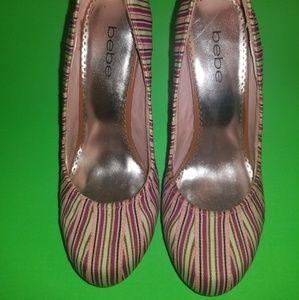 Bebe Round Toe Heels